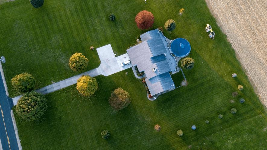 foto aerea casa